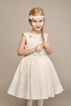 Sleeveless jacquard ball gown from Papilio Kids Ceremony Collection