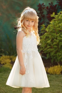 A-line gown embroidered with sequins from Papilio Kids Ceremony Collection
