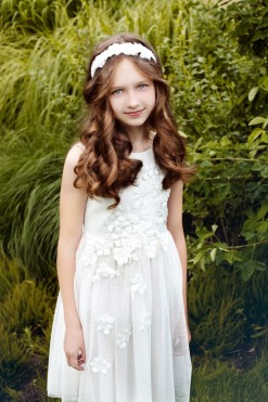 Tank tulle ball gown embroidered with sequins from Papilio Kids Ceremony Collection