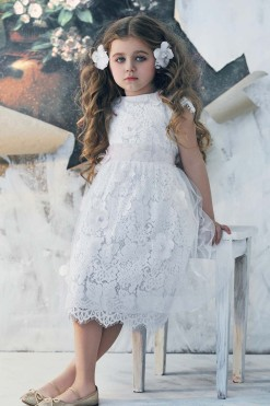 All over lace dress with tulle overlay from Papilio Kids Ceremony Collection