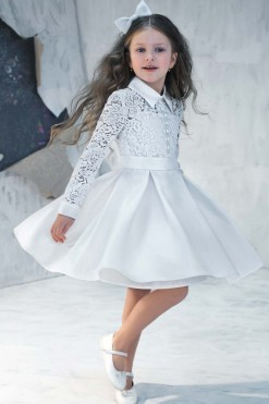 Lace bodice gown with long sleeves from Papilio Kids Ceremony Collection