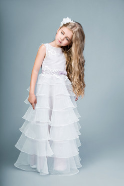 Organza layered gown with lace decor from Papilio Kids Ceremony Collection