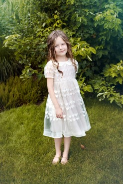Cap sleeve dress with heart print tulle from Papilio Kids Ceremony Collection