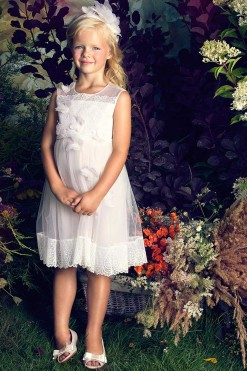 Lace bodice dress with handmade organza butterflies from Papilio Kids Ceremony Collection
