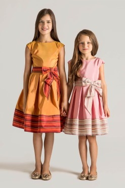 Printed A-line dress with belt from Papilio Kids Glamour Collection