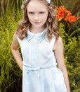 Sleeveless dress with pockets and embroidered collar from Papilio Kids Glamour Collection