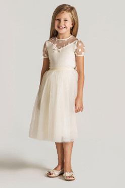 Knitted top with lace decor and Tulle skirt from Papilio Kids Ceremony Collection