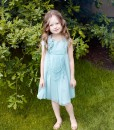 Sleeveless chiffon dress with handmade flower and beads from Papilio Kids Glamour Collection