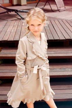 Cotton Knitted Coat from Papilio Kids Glamour Collection