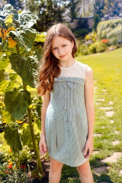 Sleeveless striped cotton dress from Papilio Kids Glamour Collection