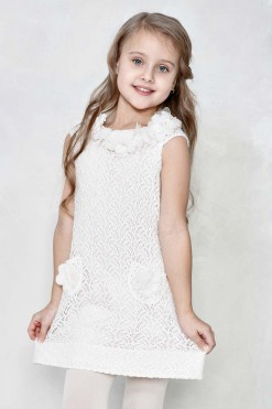 Lace sleeveless dress with handmade décor from Papilio Kids Glamour Collection