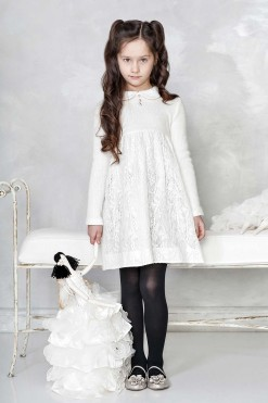 Long sleeve dress with collar from Papilio Kids Glamour Collection