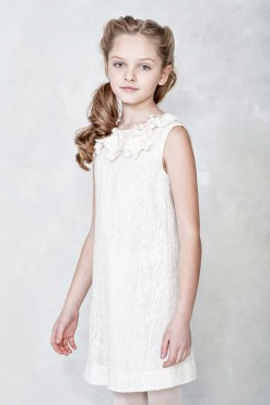 Sleeveless dress with handmade flower décor from Papilio Kids Glamour Collection