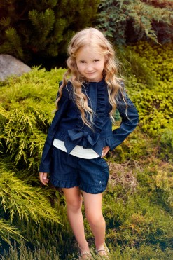 Two-piece matching set: Cotton jacket and Cotton shorts from Papilio Kids Glamour Collection