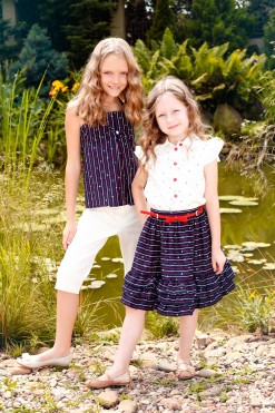 Top and shorts outfit with Skirt and blouse matching set from Papilio Kids Glamour Collection
