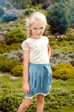 Knitted cap sleeve blouse from Papilio Kids Glamour Collection