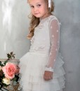 Illusion polka dot sleeve top and Tiered tulle tutu skirt from Papilio Kids Glamour collection