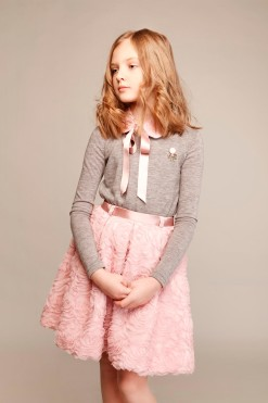 Long sleeve knitted top with brooch from Papilio Kids Glamour Collection