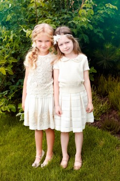 Two-piece matching set: Lace border skirt and Top with lace from Papilio Kids Glamour Collection