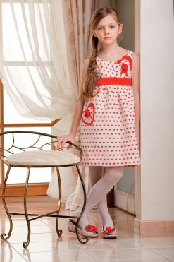 Heart print tank dress from Papilio Kids Glamour Collection