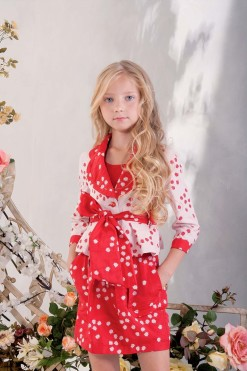 Two-piece matching set: Knitted top and Printed jacket with belt from Papilio Kids Glamour collection