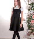 Top and Dress classic set: Sleeveless dress and Turtleneck top from Papilio Kids School collection