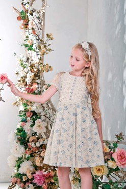 Flower print dress with cap sleeves from Papilio Kids Glamour Collection