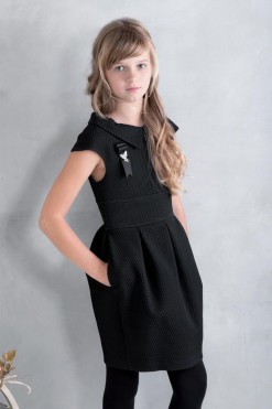 Cup sleeve dress with pockets from Papilio Kids School Collection