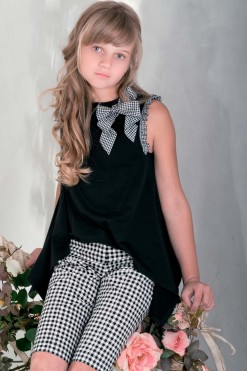 Sleeveless knitted top with handmade décor from Papilio Kids Glamour Collection