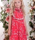 Sleeveles dress with handmade flower décor