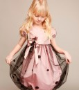 Cap sleeve taffeta dress with handmade décor from Papilio Kids Glamour Collection