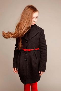 Dark grey classy coat from Papilio Kids School Collection