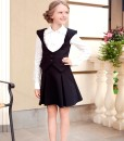 Pleated skirt and Black school vest from Papilio Kids School collection