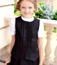 Two-piece matching set: Three piece school outfit: Classy skirt, Black button down vest from Papilio Kids School collection
