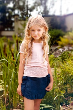 Illusion sleeve top with sequined embroidery from Papilio Kids Glamour Collection