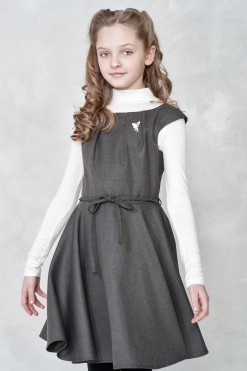 Sleeveless dress with belt from Papilio Kids School Collection
