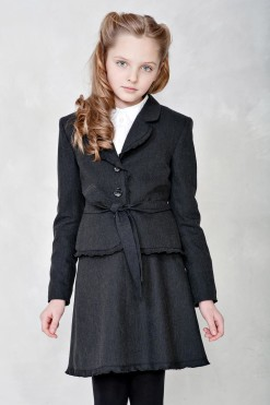 Two-piece matching set: Two-piece matching set: Cotton jacket and Cotton skirt from Papilio Kids School collection