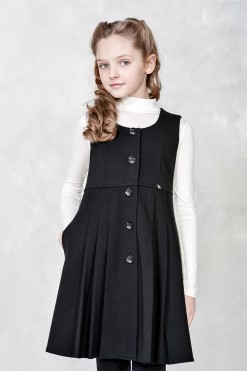 Knitted sleeveless dress with pleated bottom from Papilio Kids School Collection