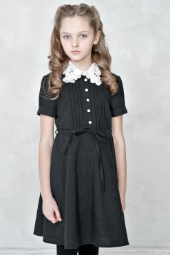 Knitted cup sleeve dress from Papilio Kids School Collection