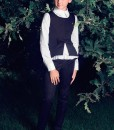 Three-piece school outfit: Matching trousers, Long sleeve peplum blouse, Slim-fit vest with bow décor from Papilio Kids School collection