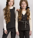 Two-piece vest and trousers set: Button down vest and Classic trousers from Papilio Kids School collection