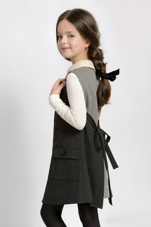 Button down sleeveless dress with pockets from Papilio Kids School Collection