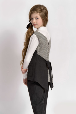 Two-piece matching set: Classic fit trousers and Vest with pockets from Papilio Kids School collection