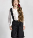 Classic suspender shorts and Long sleeve button down blouse from Papilio Kids School collection