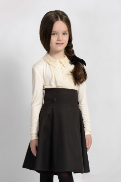 Long sleeve jumper with lace collar and decor from Papilio Kids School Collection
