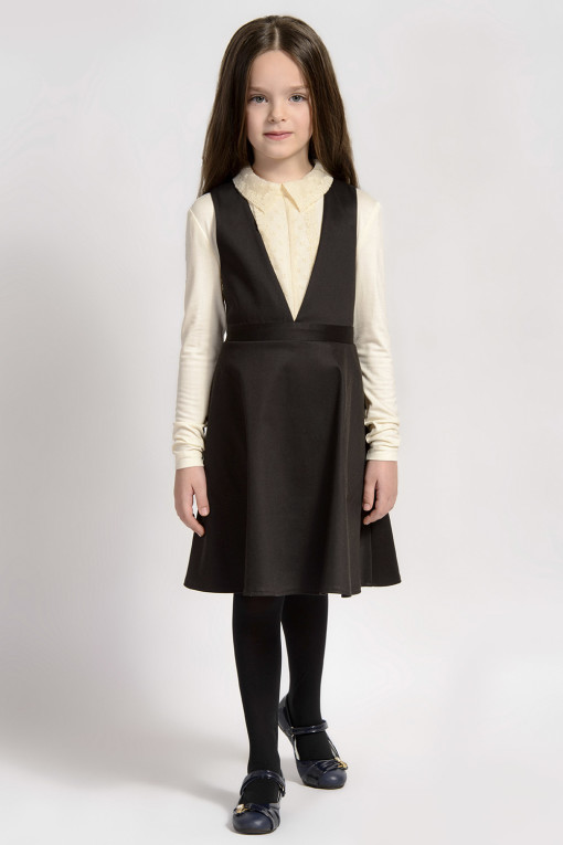 Low-neck sleeveless dress with pockets from Papilio Kids School Collection