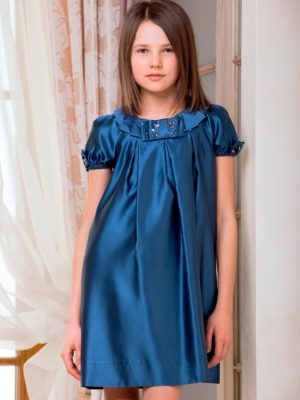 Cap sleeve silk satin dress from Papilio Kids Glamour Collection