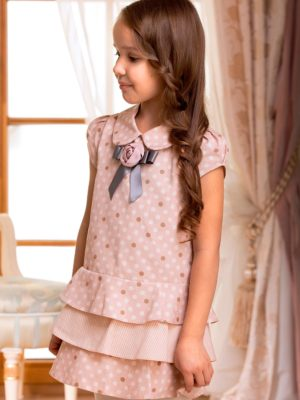 Cap sleeve polka dot dress from Papilio Kids Glamour Collection