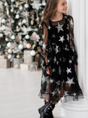 Papilio Kids dress with sequinned stars