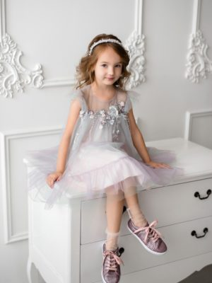 Papilio Kids A-line dress with flower decor